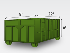 40 Yard Dumpster (4 tons)